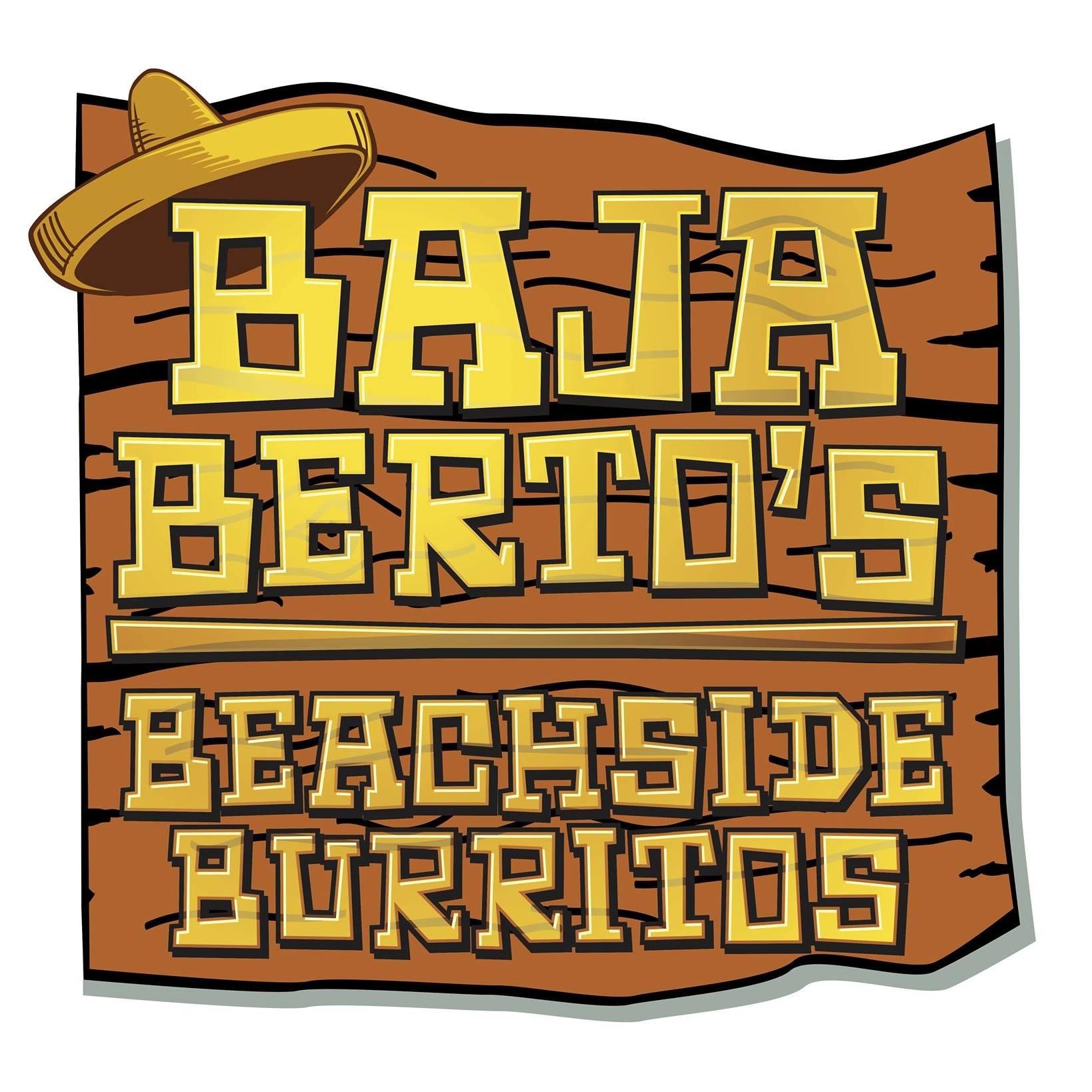 Baja Berto's Beachside Burritos logo