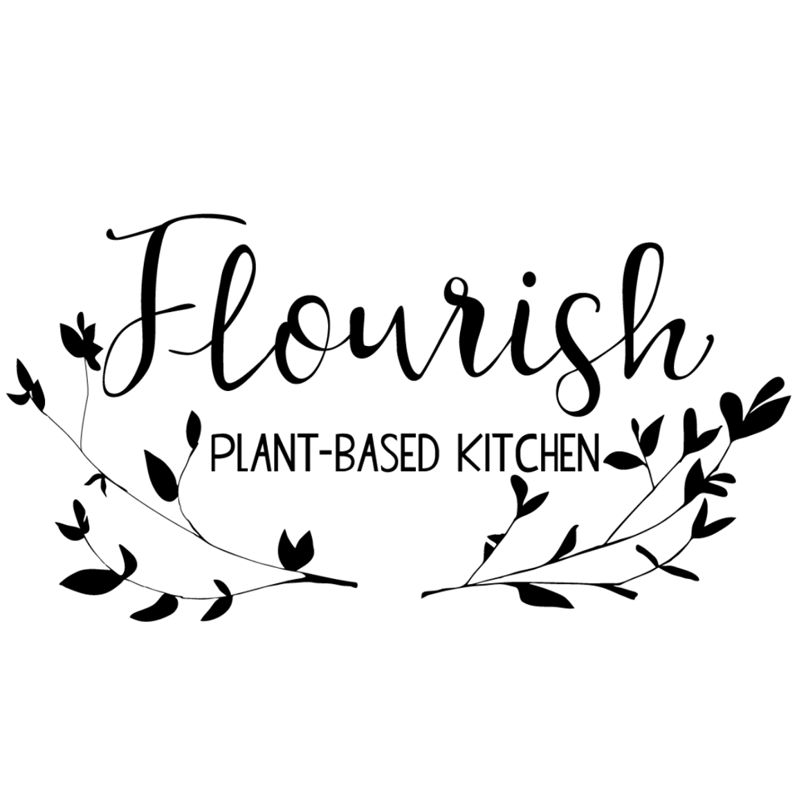 Flourish Plant-Based Kitchen logo