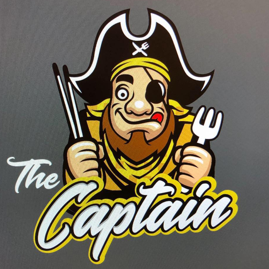 The Captain Tacos and Sushi logo
