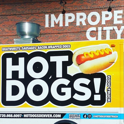 HOT DOGS FOOD TRUCK logo