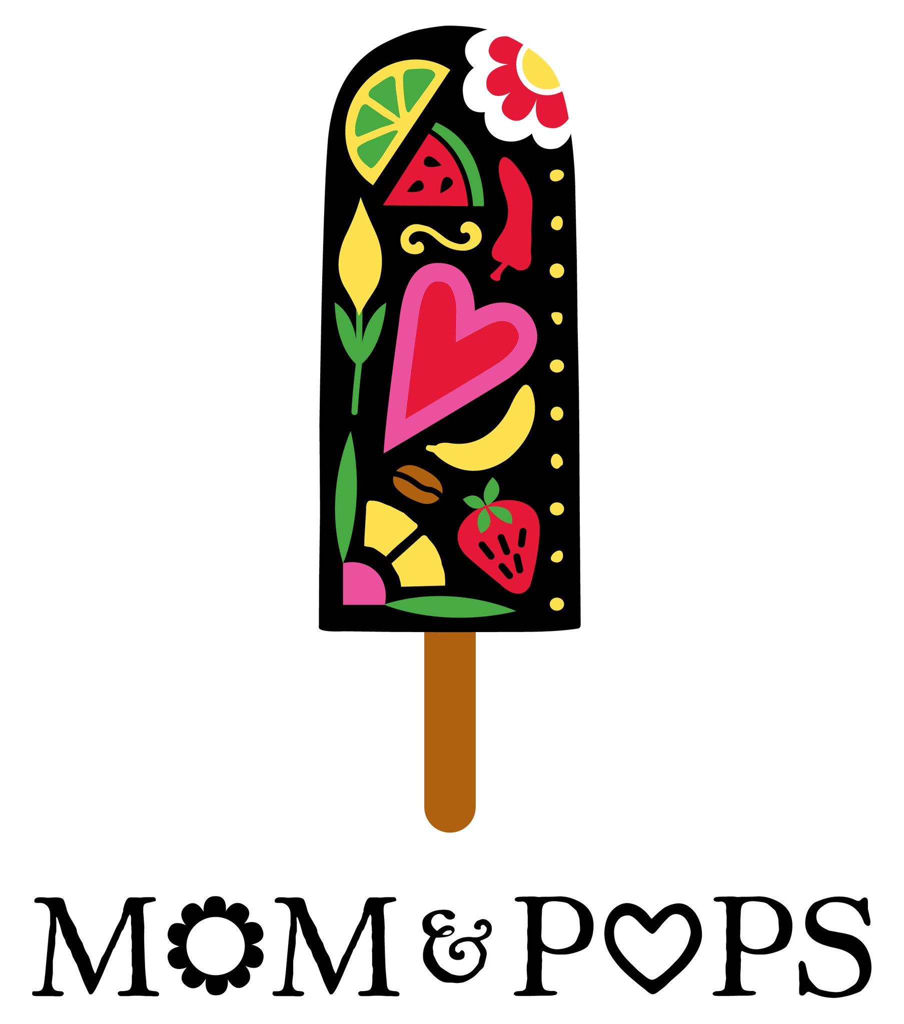 Mom & Pops All Natural Frozen Pops logo