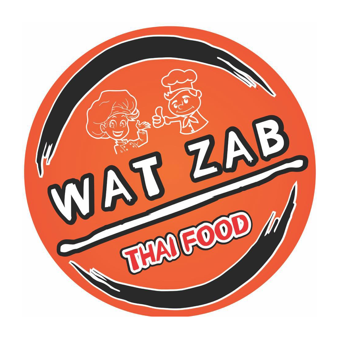 WAT ZAB Thai Food logo
