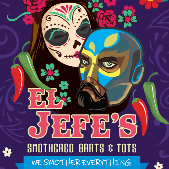 El Jefe's Smothered Brats and Tots logo
