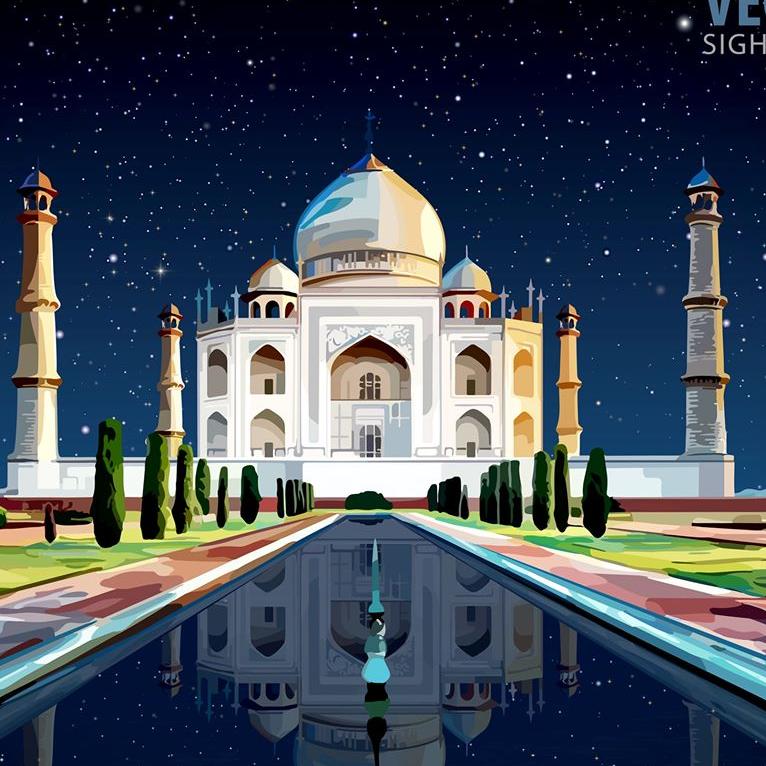 Taj Mahal Puhjabi food logo