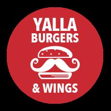 Yalla Burgers & Wings logo