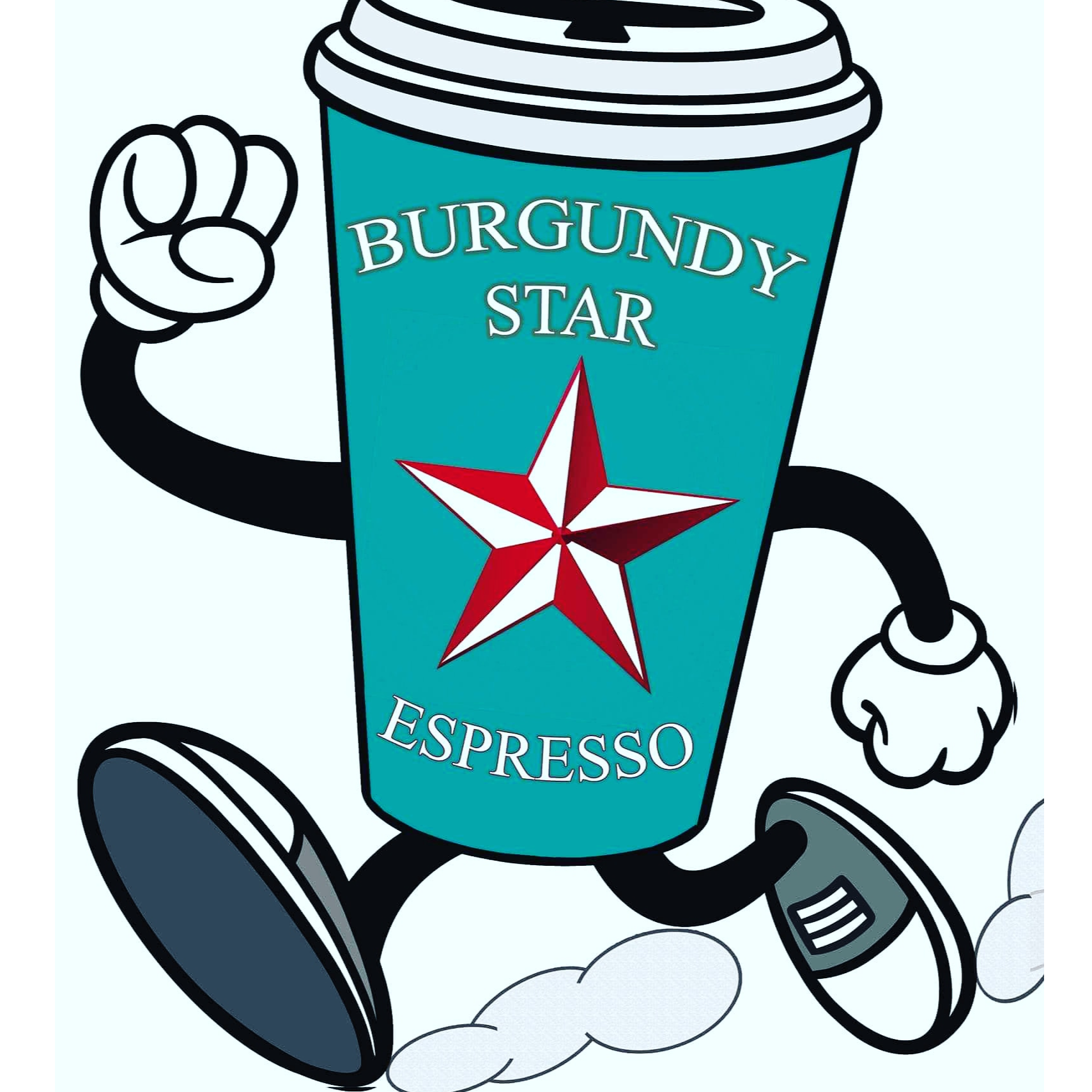 Burgundy Star Espresso logo