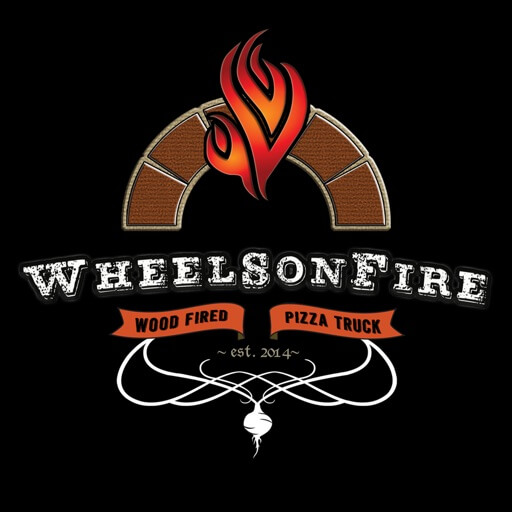 Wheels on Fire Pizza Truck logo